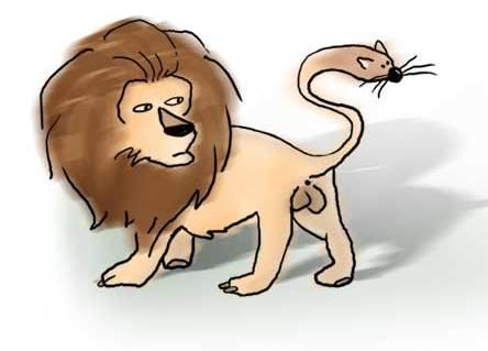 Cabeza de ratón & cola de león